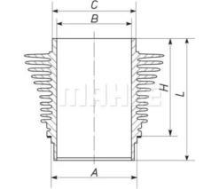 VW 021 101 301 A Cylinder Sleeve